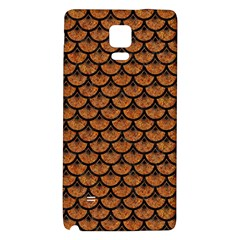 Scales3 Black Marble & Rusted Metal Galaxy Note 4 Back Case