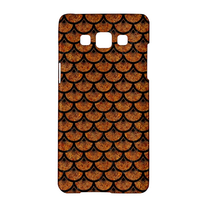 SCALES3 BLACK MARBLE & RUSTED METAL Samsung Galaxy A5 Hardshell Case