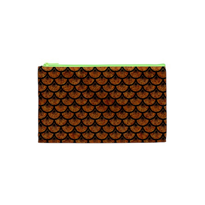 SCALES3 BLACK MARBLE & RUSTED METAL Cosmetic Bag (XS)