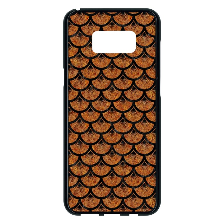 SCALES3 BLACK MARBLE & RUSTED METAL Samsung Galaxy S8 Plus Black Seamless Case