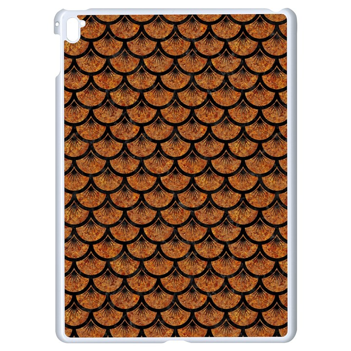 SCALES3 BLACK MARBLE & RUSTED METAL Apple iPad Pro 9.7   White Seamless Case
