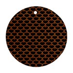 SCALES3 BLACK MARBLE & RUSTED METAL (R) Ornament (Round) Front