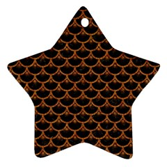 Scales3 Black Marble & Rusted Metal (r) Ornament (star)