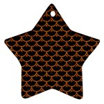 SCALES3 BLACK MARBLE & RUSTED METAL (R) Ornament (Star) Front