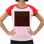 SCALES3 BLACK MARBLE & RUSTED METAL (R) Women s Cap Sleeve T-Shirt Front