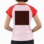 SCALES3 BLACK MARBLE & RUSTED METAL (R) Women s Cap Sleeve T-Shirt Back