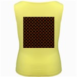 SCALES3 BLACK MARBLE & RUSTED METAL (R) Women s Yellow Tank Top Back