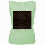SCALES3 BLACK MARBLE & RUSTED METAL (R) Women s Green Tank Top Front
