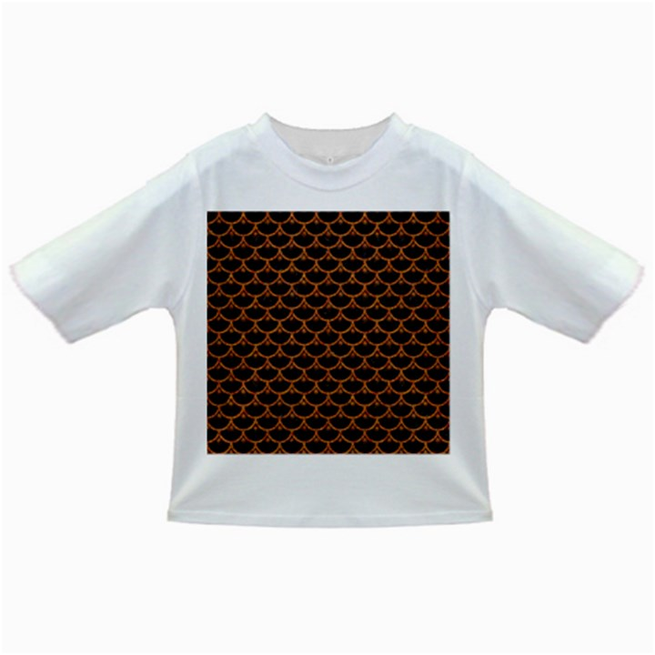 SCALES3 BLACK MARBLE & RUSTED METAL (R) Infant/Toddler T-Shirts