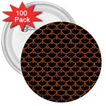 SCALES3 BLACK MARBLE & RUSTED METAL (R) 3  Buttons (100 pack)  Front