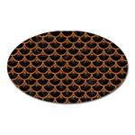 SCALES3 BLACK MARBLE & RUSTED METAL (R) Oval Magnet Front