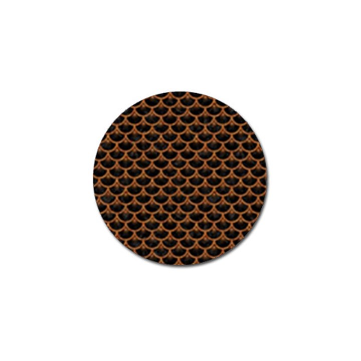 SCALES3 BLACK MARBLE & RUSTED METAL (R) Golf Ball Marker (10 pack)