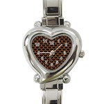 SCALES3 BLACK MARBLE & RUSTED METAL (R) Heart Italian Charm Watch Front