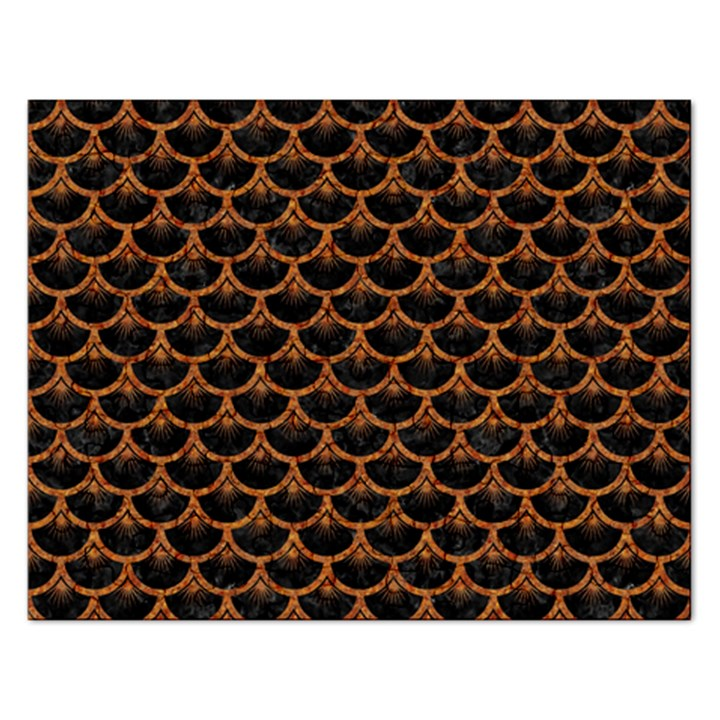 SCALES3 BLACK MARBLE & RUSTED METAL (R) Rectangular Jigsaw Puzzl