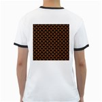 SCALES3 BLACK MARBLE & RUSTED METAL (R) Ringer T-Shirts Back