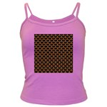 SCALES3 BLACK MARBLE & RUSTED METAL (R) Dark Spaghetti Tank Front
