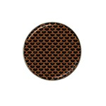 SCALES3 BLACK MARBLE & RUSTED METAL (R) Hat Clip Ball Marker Front