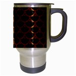 SCALES3 BLACK MARBLE & RUSTED METAL (R) Travel Mug (Silver Gray) Right
