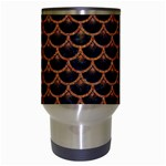 SCALES3 BLACK MARBLE & RUSTED METAL (R) Travel Mugs (White) Center