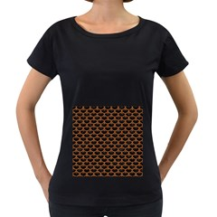 Scales3 Black Marble & Rusted Metal (r) Women s Loose Fit T Shirt (black)