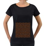 SCALES3 BLACK MARBLE & RUSTED METAL (R) Women s Loose-Fit T-Shirt (Black) Front