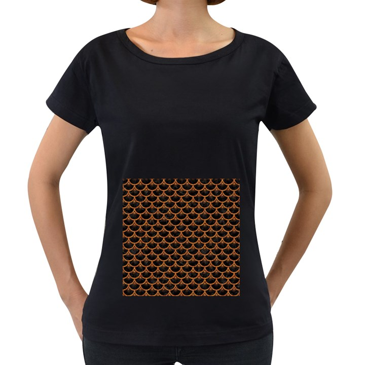 SCALES3 BLACK MARBLE & RUSTED METAL (R) Women s Loose-Fit T-Shirt (Black)