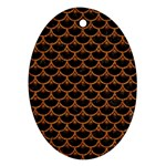 SCALES3 BLACK MARBLE & RUSTED METAL (R) Oval Ornament (Two Sides) Front