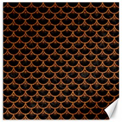 Scales3 Black Marble & Rusted Metal (r) Canvas 20  X 20