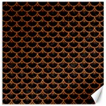 SCALES3 BLACK MARBLE & RUSTED METAL (R) Canvas 20  x 20   20 x20 Canvas - 1