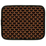 SCALES3 BLACK MARBLE & RUSTED METAL (R) Netbook Case (Large) Front