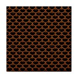 SCALES3 BLACK MARBLE & RUSTED METAL (R) Face Towel Front