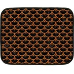 SCALES3 BLACK MARBLE & RUSTED METAL (R) Double Sided Fleece Blanket (Mini)  35 x27 Blanket Front