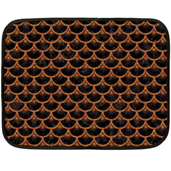 SCALES3 BLACK MARBLE & RUSTED METAL (R) Double Sided Fleece Blanket (Mini)