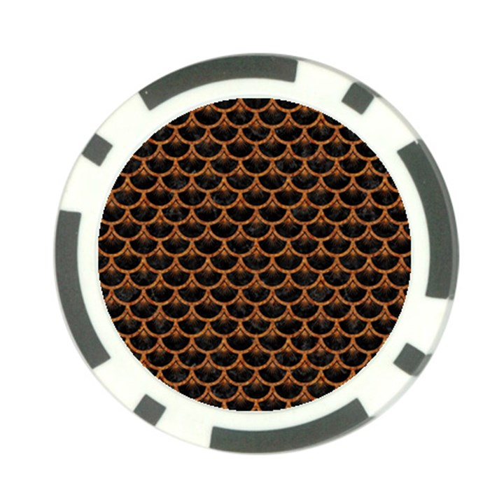 SCALES3 BLACK MARBLE & RUSTED METAL (R) Poker Chip Card Guard (10 pack)