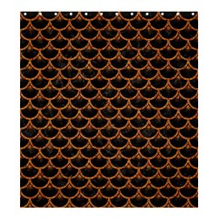 Scales3 Black Marble & Rusted Metal (r) Shower Curtain 66  X 72  (large)