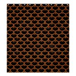 SCALES3 BLACK MARBLE & RUSTED METAL (R) Shower Curtain 66  x 72  (Large)  58.75 x64.8 Curtain