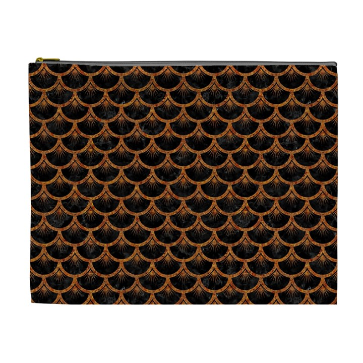 SCALES3 BLACK MARBLE & RUSTED METAL (R) Cosmetic Bag (XL)