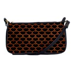 SCALES3 BLACK MARBLE & RUSTED METAL (R) Shoulder Clutch Bags Front