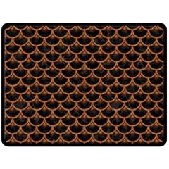 Scales3 Black Marble & Rusted Metal (r) Fleece Blanket (large)