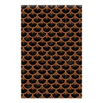 SCALES3 BLACK MARBLE & RUSTED METAL (R) Shower Curtain 48  x 72  (Small)  42.18 x64.8 Curtain