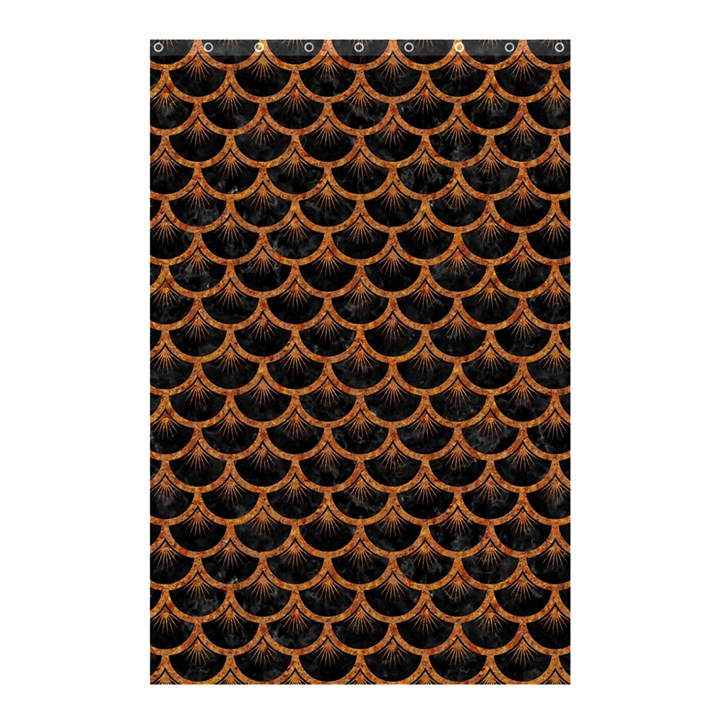 SCALES3 BLACK MARBLE & RUSTED METAL (R) Shower Curtain 48  x 72  (Small)