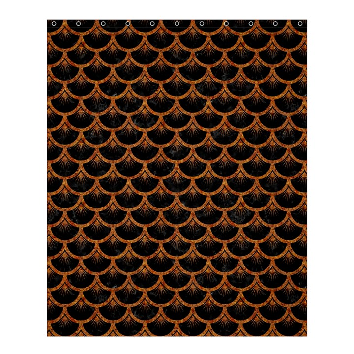 SCALES3 BLACK MARBLE & RUSTED METAL (R) Shower Curtain 60  x 72  (Medium)
