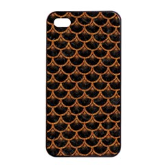 Scales3 Black Marble & Rusted Metal (r) Apple Iphone 4/4s Seamless Case (black)
