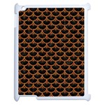 SCALES3 BLACK MARBLE & RUSTED METAL (R) Apple iPad 2 Case (White) Front