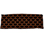 SCALES3 BLACK MARBLE & RUSTED METAL (R) Body Pillow Case (Dakimakura) Body Pillow Case