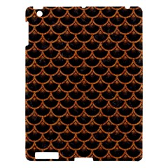 Scales3 Black Marble & Rusted Metal (r) Apple Ipad 3/4 Hardshell Case