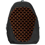 SCALES3 BLACK MARBLE & RUSTED METAL (R) Backpack Bag Front