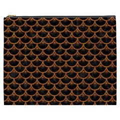 Scales3 Black Marble & Rusted Metal (r) Cosmetic Bag (xxxl)