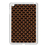 SCALES3 BLACK MARBLE & RUSTED METAL (R) Apple iPad Mini Case (White) Front