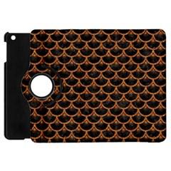 Scales3 Black Marble & Rusted Metal (r) Apple Ipad Mini Flip 360 Case